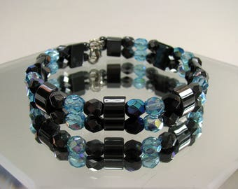Hematite Memory Wire Bracelet