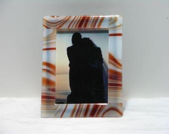 Godiva 5X7 Fused Glass Frame