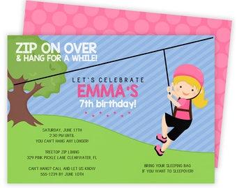 Items similar to zipline birthday party invitation invite zip line zip line invitation zip line party zipline birthday invitations zip line invite stopboris Gallery