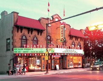 Regent Theatre - Picton Prince Edward County Fine Art Photography Print - Theatre, Historic, Canada, Old Movie Theatre, Brick Building