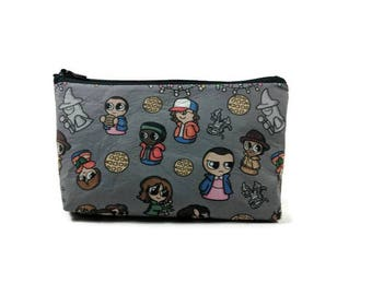 Stranger Things Makeup Bag, Tampon Case, Zipper Pouch, Toiletry Bag, Zippered Cosmetic Bag, Stranger Things Zipper Pouch, Makeup Organizer