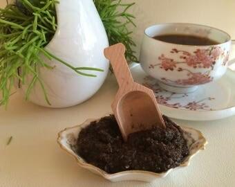 Row Organic Coffee- Dead Sea Salt Body SCRUB-Handmade by SPA Uptown 8 fl oz