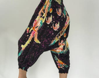 HL0043 Harem Pants Unisex Low Crotch Yoga Trousers gypsy pants rayon pants,aladdin pants maxi pants boho pants