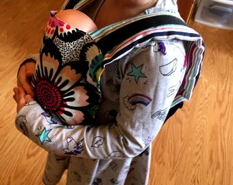 Doll Carrier with adjustable straps/Doll Tula/Doll Ergo/Babywearing