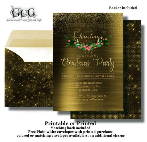 elegent christmas party invitation holiday office party invitation