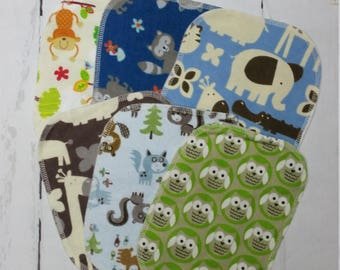 6 Baby Wipes, Reusable Flannel Wipes, 2 ply flannel baby wash cloth, Wasable Wipes, Cloth Diapering, Face Wipes, Wash Cloths