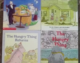 4 books The Hungry Thing, The Hungry Thing Returns, Goes to a Restaurant