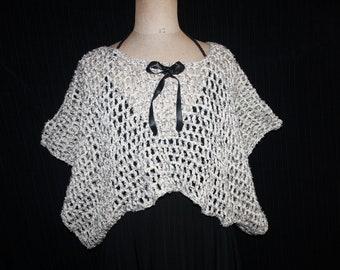 pretty top worked in crochet