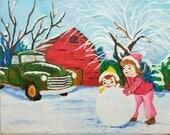 8x10 Acrylic Nostalgic Christmas