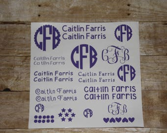 Back to School Personalized Decals