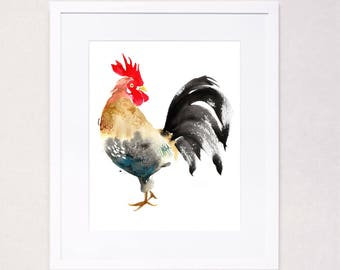 Year of the Rooster (Watercolor Art Print)