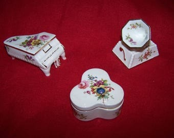 Collection of 3 Hammersley Fine Bone China Vintage Miniatures.