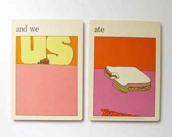 and we ate - Pop Art Prints - Vintage MOMA Art Cards - Kitchen Wall Decor - Mid Century Modern Art Decor Museum of Modern Art - Sandwich Art