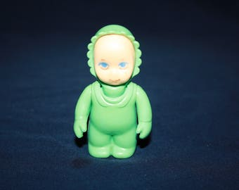 Little Tikes Doll House Little Peoples Aqua Green Baby Figure Toy