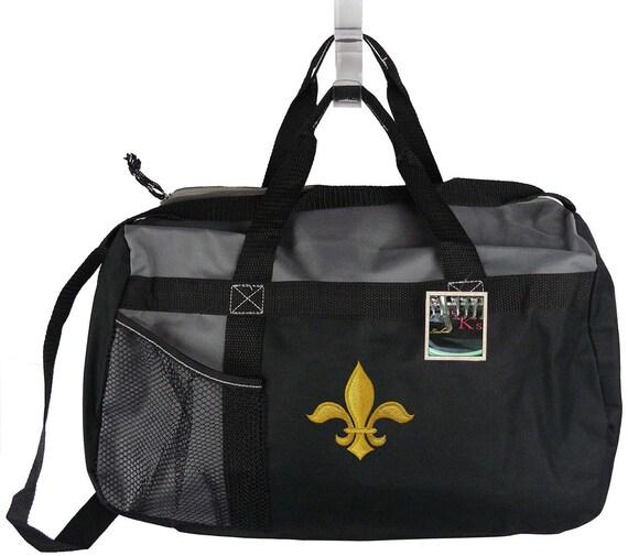 90a19ccb59f Fleur de Lis New Orleans Gemline Sequel Sport Duffle Gym Bag + Free Name  Embroidered