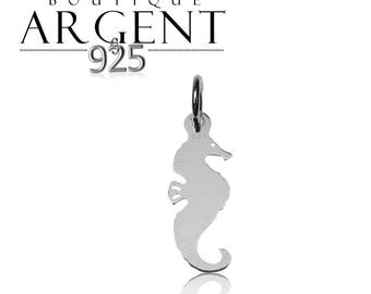 Seahorse shaped 22.5 X 7.1 mm 925 Silver Pendant