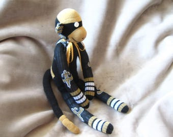 NFL Sock Monkey New Orleans Saints Stuffed Animal Toy Plush Doll
