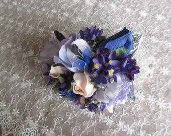 WRIST CORSAGE SET prom purple lilac pink blue