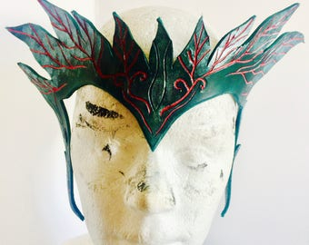 Poison Ivy Leather Crown