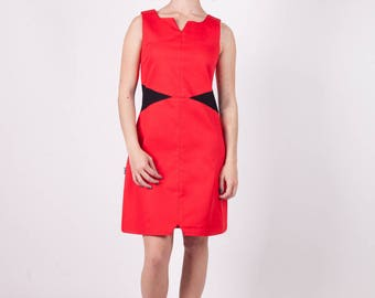 Tifia at Chilia cotton dress red and black lycra