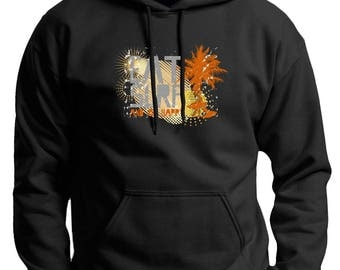 Cool Gift for Surfer Eat Surf and Be Happy Premium Hoodie Sweatshirt F170 - WRV-85