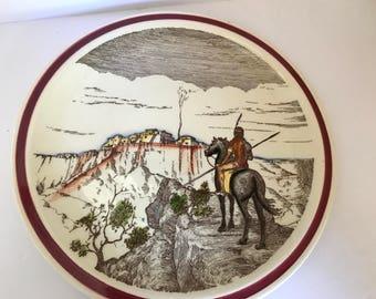 """Vintage Vernon Kilns """"Bits Of The Southwest Pueblo""""  14"""" Decorative  Platter"""