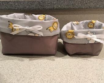Cute nursery baskets