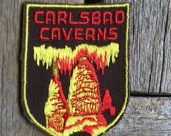 Carlsbad Caverns New Mexico Vintage Travel Patch