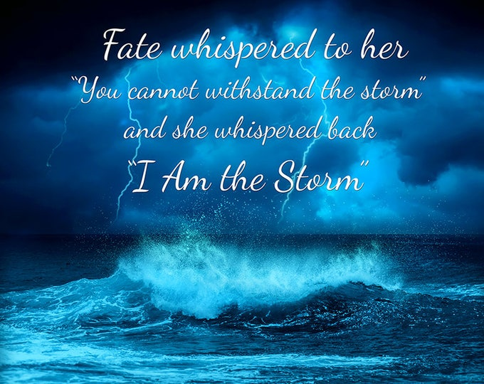 "motivational quote print inspiring quote art ""stormy seas"""