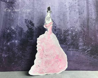 Original Watercolour Painting Fairytale Dress Mannequin Bookmark - Paper Doll Bookmark - Fairytale Bookmark - Watercolour Painting Bookmark