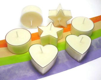 6 Aromatherapy Tealight Candles   Soy Candles   Luxury Candle   Lavender   Sweet Orange   Ylang Ylang   Bespoke   Home Decor   Gift