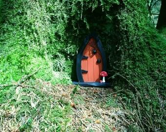 Witch Fairy Door  - Wooden Fairy Door -