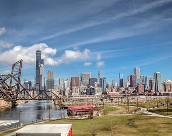 Chicago Skyline from China Town