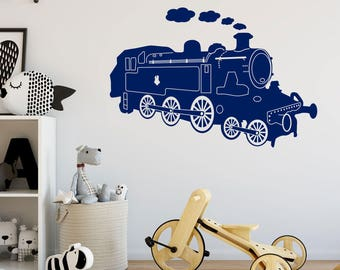 Steam Engine Wall Sticker A84