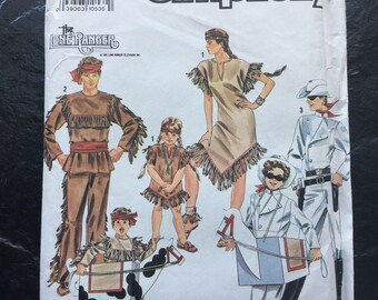 Lone Ranger, Tonto, Silver and Scout Costumes Pattern // Simplicity 9899, Child Sizes 2-4-6-8-10-12 > Unused