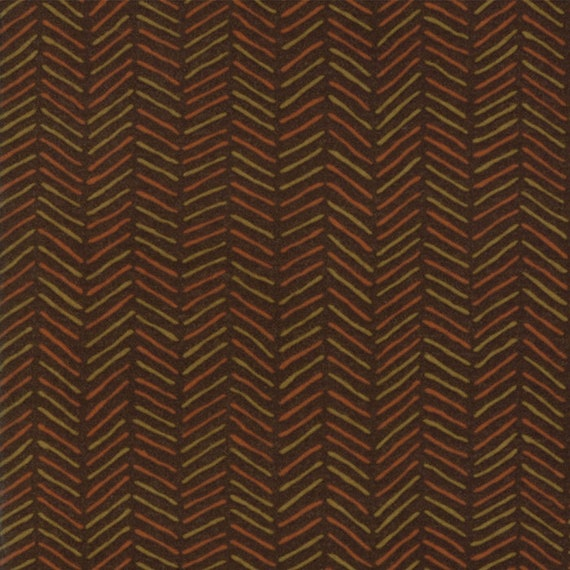 Dark Brown Flannel With Diagonal Crossed Hash Lines From Holly Taylor Fall Impressions Moda Fabric By The Yard 6705 14F
