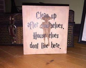 Harry Potter inspired House Elves shelf sitter block
