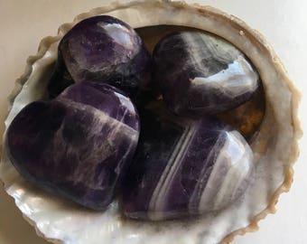 Amethyst Gemstone Heart,Stability Stone, Calming, Healing Crystals, Healing Stones, Spiritual Stone, Chakra Stone