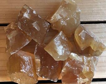Golden Honey Calcite AAA Natural Stone, Healing Stone, Healing Crystal, Chakra Stones, Spiritual Stone