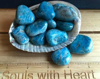 Blue Apatite Healing Stones, Healing Crystal, Chakra Stones, Spiritual Stone, Gemstone