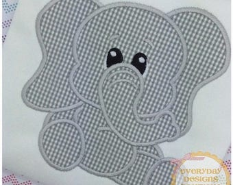 ON SALE Stuffed with Love Elephant Machine Embroidery Applique Design