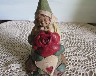 """1995 Tom Clark Gnome """"To Mother with Love"""" Cairn item #5202 Rose."""