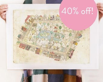 40% OFF! Hyde Park Reproduction