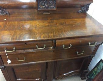 Oak side board late 1800's