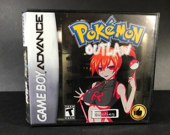 Pokemon Outlaw ROM Hack Fan Made Game Gameboy Advance GBA Custom Case