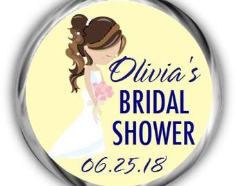 Blushing Bride Bridal Shower Hershey Kisses Stickers - Bridal Shower Kiss Favors