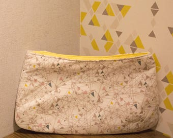 Trendy patterned cotton pouch