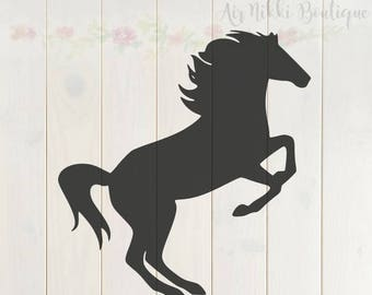 Mustang, horse, SVG, PNG, DXF files, instant download