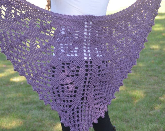 Chunky Lace Shawl - MADE TO ORDER
