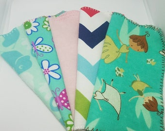 SALE  24 MIxed Flannel cloth wipes